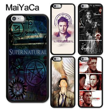 MaiYaCa SUPERNATURAL DEAN SAM TV SERIES Soft Rubber Phone Cases For iPhone 6 6S 7 8 Plus X 5 5S SE Back Cover Skin Shell Coque