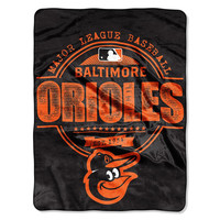 Baltimore Orioles MLB Micro Raschel Blanket (Structure Series) (46in x 60in)