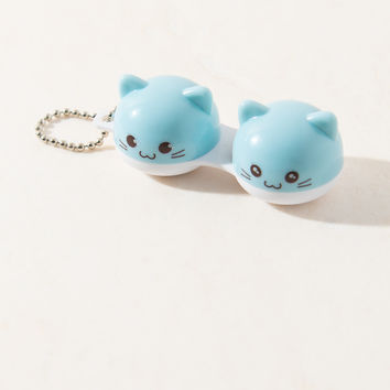 Blue Kitty Contact Lens Case