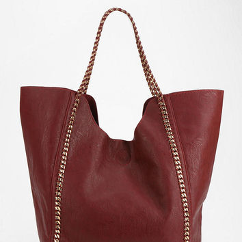 Deena & Ozzy Braided Chain Vegan Leather Tote Bag - Urban Outfitters