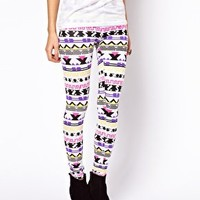 ASOS Leggings in Festival Aztec Print at asos.com