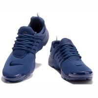 Nike Air Presto Woman Men Running Sneakers Sport Shoes Navy blue G-CSXY