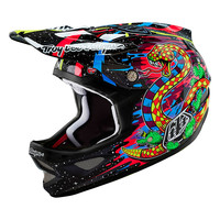 Troy Lee Designs Men's Blacklight D3 Mountain Bike Carbon Helmet