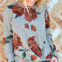 Twist And Turn Knot Top- Floral