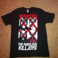 MY CHEMICAL ROMANCE The Fabulous Killjoys Tour WANTED POSTER Large T SHIRT