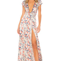 Tularosa x REVOLVE Sid Wrap Dress in Garden Floral