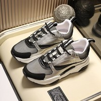 DIOR Gray Men Women Fashion Casual Sports Shoes Size 36-45