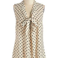 Mid-length Sleeveless South Florida Spree Top in Dotted Ink