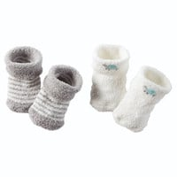 2-Pack Chenille Booties
