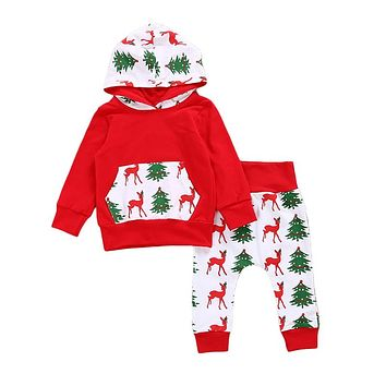 Baby Clothing Set Fashion Baby Boys Girls Long Sleeve Hoodied Pant Suit