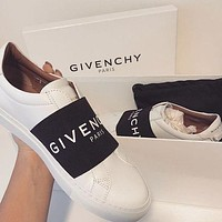 GIVENCHY Classic Fashionable Women Men Casual Leather Sport Shoes Sneakers