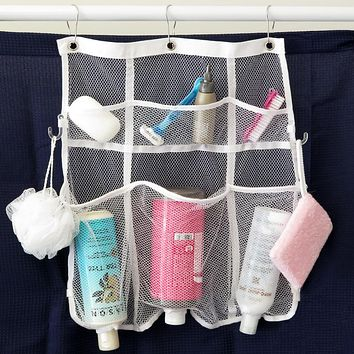 Evelots Mesh Shower Organizer with 6 Pockets, Hanging Quick Dry Shower Caddy