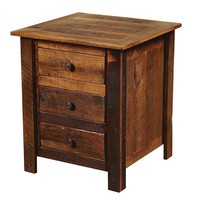 Barnwood Three Drawer Nightstand