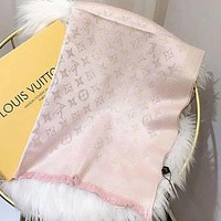 Louis Vuitton LV Women Wool Scarf Shawl Scarf Pink