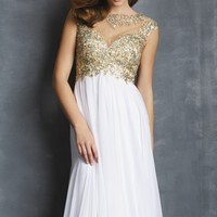 Beaded Chiffon Gown by NightMoves by Allure
