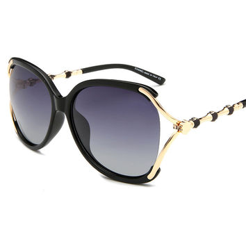Ladies Hollow Out Stylish Sunglasses [11405214095]