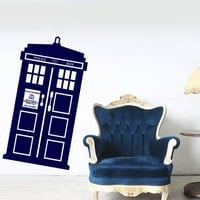 Wall Decal Doctor Who Tardis Quote Time Travels Mural Sticker Decor Art Police Box Gift Dorm Bedroom M1625