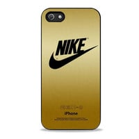 nike gold stelish texture Iphone 5s Cases
