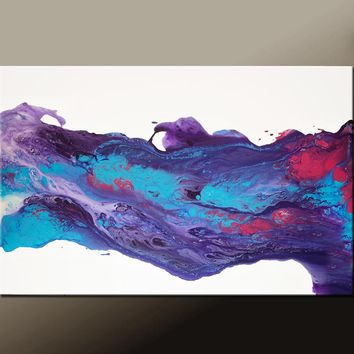 Abstract Canvas Art Contemporary Painting by Destiny Womack - dWo - Whispers in the Wind