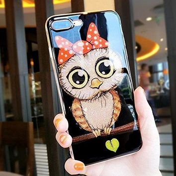iPhone 8 Plus/7 Plus,Cute Bling Animal Series Soft TPU Protective Case