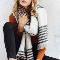 Multi Stripe Blanket Scarf