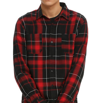 RUDE Red & Black Plaid Woven