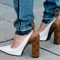 Louis Vuitton Lv Women Trendy High Heeled Shoes