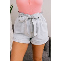 Breath Of Fresh Air Denim Shorts (Light Wash)