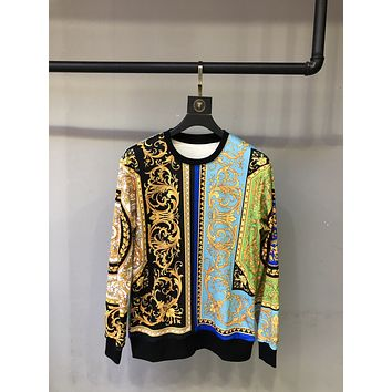 Versace casual loose turtleneck sweater Fall Winter Fashion Long Sleeve