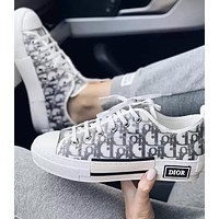 Dior Hot Fashion Couple Printed Letters Translucent Casual Sneakers