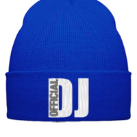 DJ OFFICIAL  embroidery - Beanie Cuffed Knit Cap