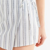 UO Jamie Striped Linen Skort Short | Urban Outfitters