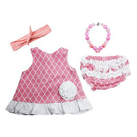 Wholesale Princess Pink & White Swing Top Set - Infant & Toddler   zulily