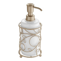 Twigz Bath Collection Soap Pump, White/Pearl Champagne