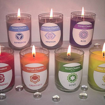 7 Chakras Soy Candle Gift Set