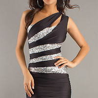 One Shoulder Cocktail, Party or Homecoming Dress by Atria