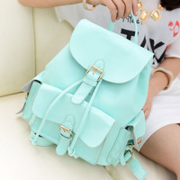 CUTE MINT GREEN COLLEGE STYLE BACKPACK AZK45UF