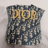 Dior embroidered letters men's and women's empty top hat