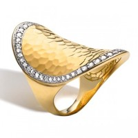 John Hardy Palu Gold & Diamond Oval Saddle Ring