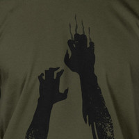 Zombie Hands Undead Halloween Zombies Claw Walk Geek Movies T-Shirt Tee Shirt Mens Womens Ladies Youth Kids
