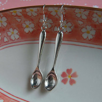 Large Silver Spoon Earrings
