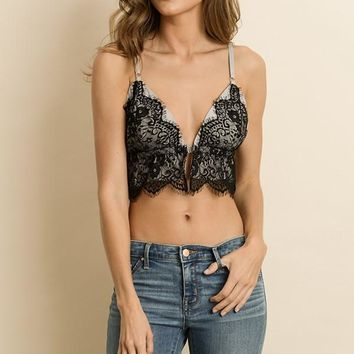 Scalloped Lace Triangle Bra Top