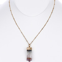 Raw Cut Gem Necklace in Multicolor