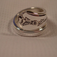 A Spoon Rings Plus Spring Garden Spoon Ring Size 10 Spoon and Fork Jewelry t215