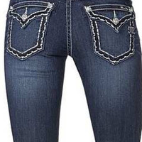 Miss Me Junior's Bold Stitch Relaxed Skinny Jeans