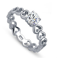 Forever My Heart Ring Wedding Engagement Band