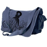 ShanaLogic.com - 100% Handmade & Independent Design! Octopus Messenger Bag - New Arrivals
