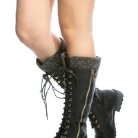 Black Faux Leather Lace Up Calf Length Boots @ Cicihot Boots Catalog:women's winter boots,leather thigh high boots,black platform knee high boots,over the knee boots,Go Go boots,cowgirl boots,gladiator boots,womens dress boots,skirt boots.