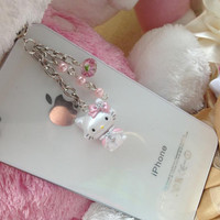 iPhone 5 dust plug  iphone 4  dust plug and charms Blackberry plug and charm-Hello Kitty