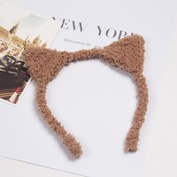 Cute Furry Cat Ears Headband